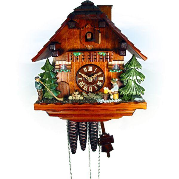 Cuckoo Clock Donostia, August Schwer: beerdrinker, alpine horn