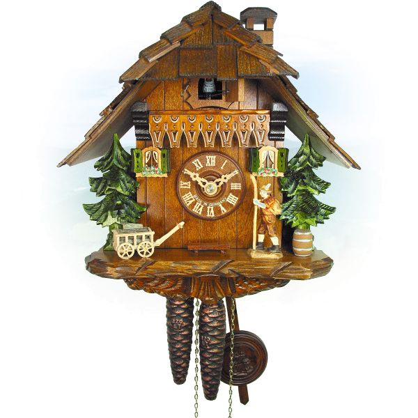 Cuckoo Clock Windsor, August Schwer: house, walker