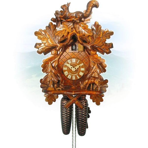 Cuckoo Clock Düren, August Schwer: squirrel-clock