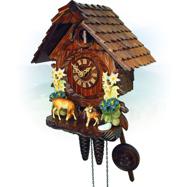 Cuckoo Clock Richmond, August Schwer: Edelweiss, deers