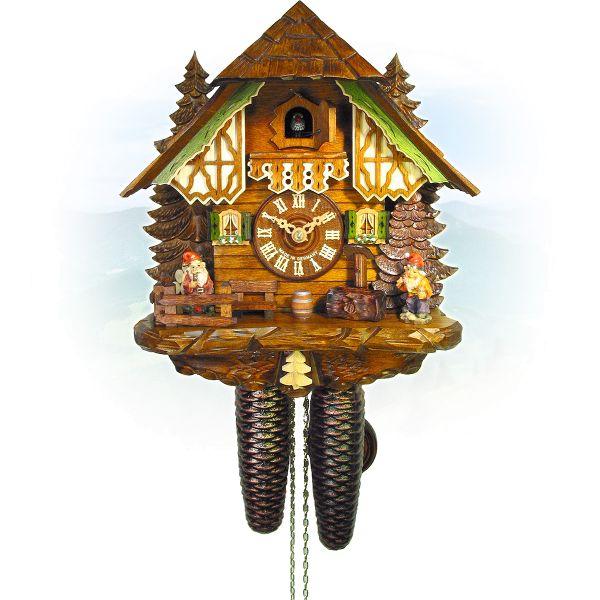 Cuckoo Clock Remscheid, August Schwer: dwarf house
