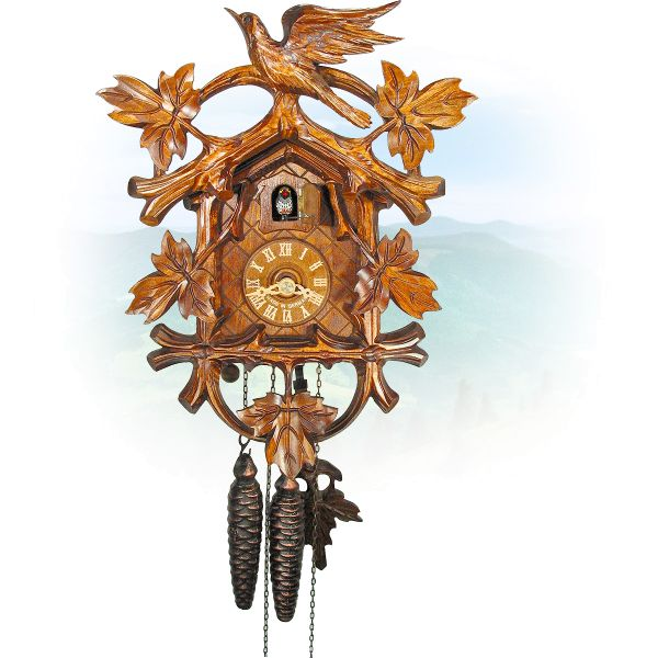 Cuckoo Clock Stuttgart , August Schwer: Cuckoo & 5 leaves
