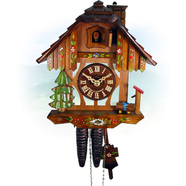 Cuckoo Clock Calgary, August Schwer: half timbered, chimneysweep
